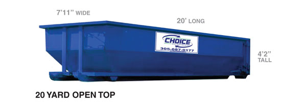 20 yard container @ Choice Environmental