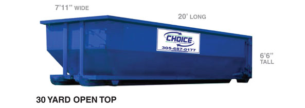 30 yard container @ Choice Environmental