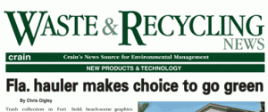 Waste Recycling News Article